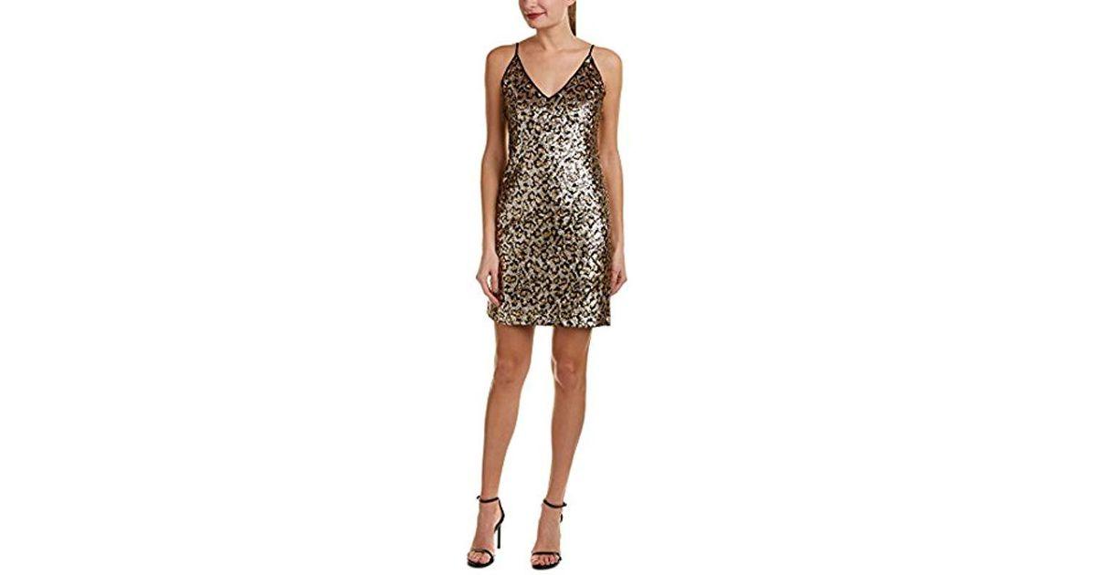 28193b762f Lyst - BB Dakota Cass Leopard Sequin Slip Dress in Metallic - Save 13%
