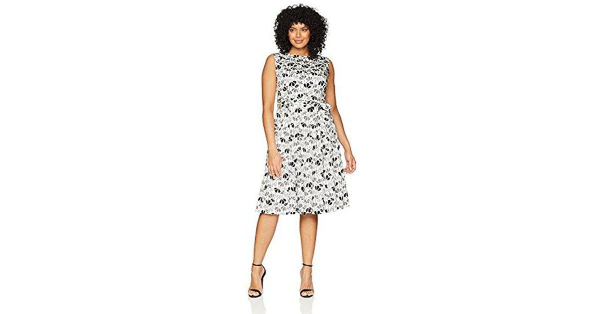 Lyst - Anne Klein Size Plus Cotton Fit & Flare Dress in White