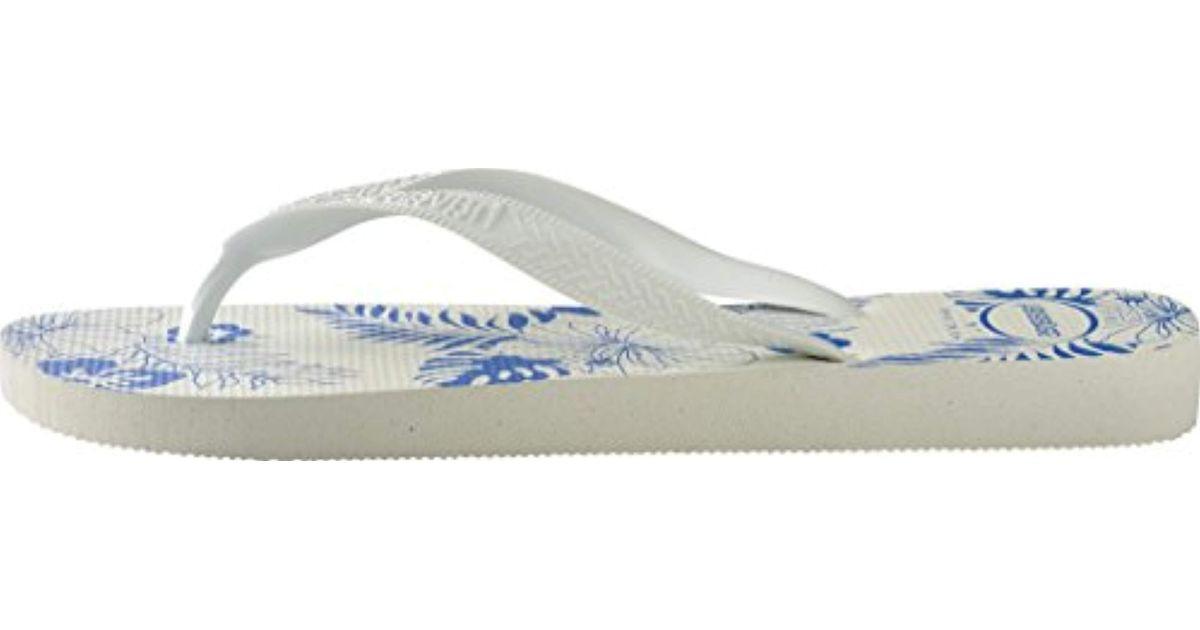 b3bf559be1d Havaianas - White Aloha Flip Flops for Men - Lyst