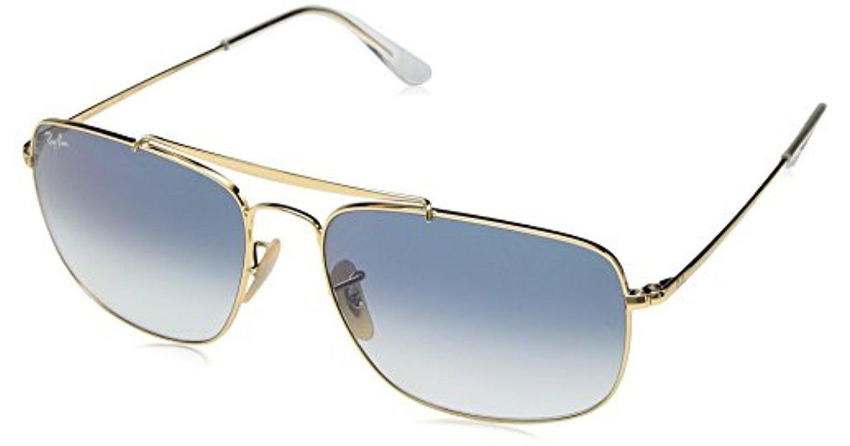 Lyst - Ray-Ban Colonel Gold & Light Blue Gradient Sunglasses in ...