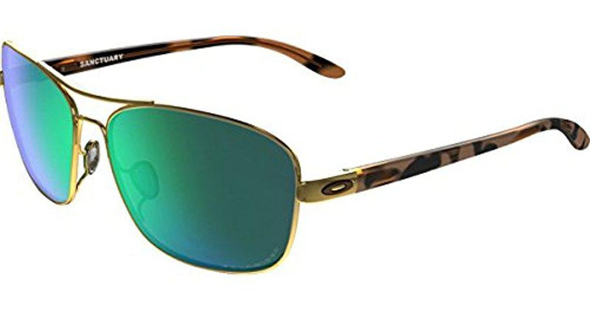 aa76c408064 Lyst - Oakley S Sanctuary Sunglasses (oo4116) Metal in Green - Save  0.7194244604316538%
