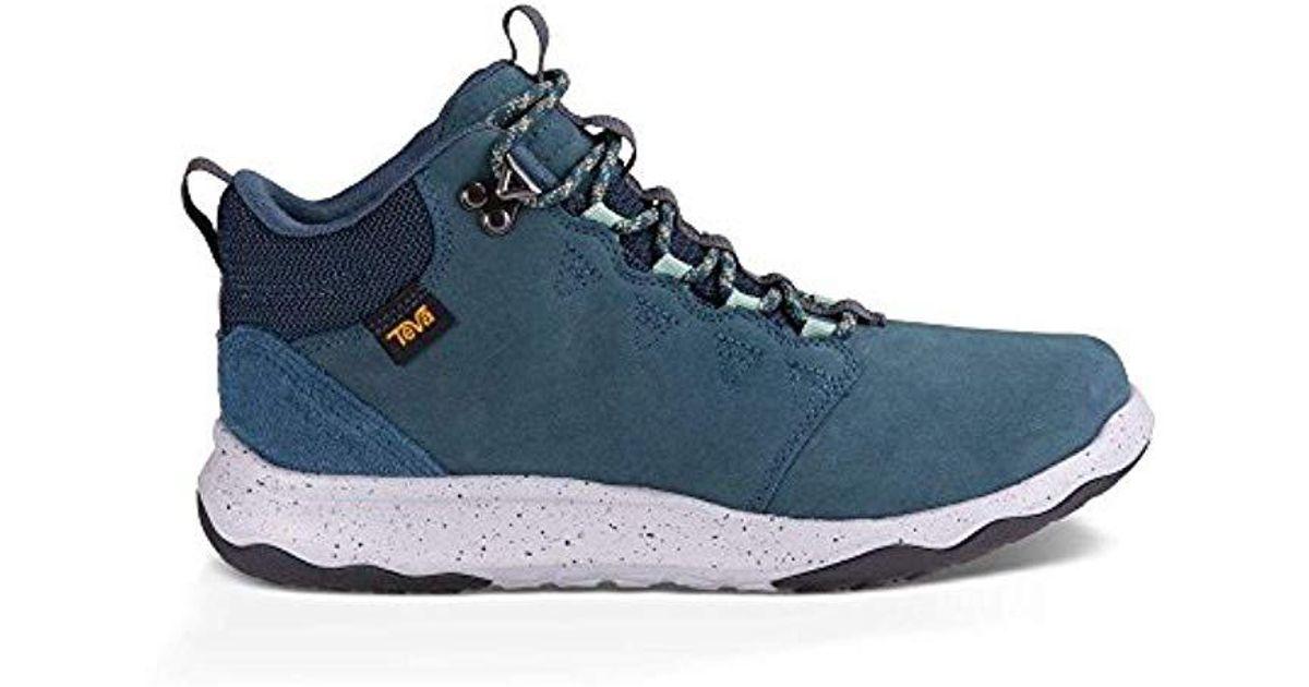13636e6db48854 Lyst - Teva W Arrowood Lux Mid Waterproof Hiking Boot in Blue