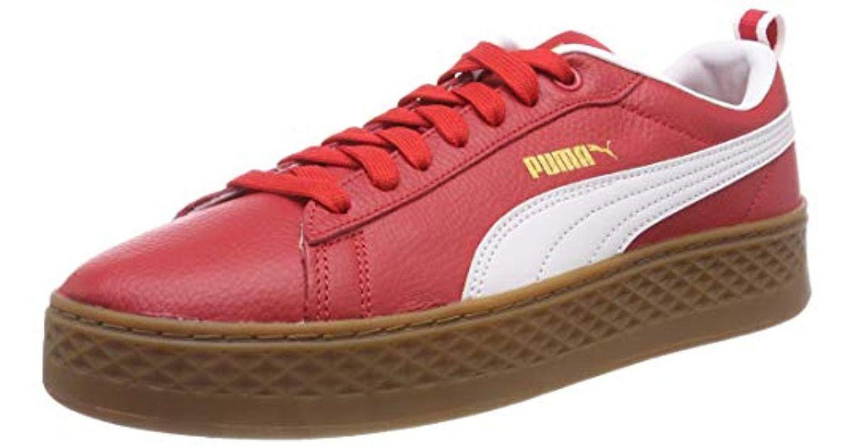 70b161369cf PUMA  s Smash Platform Vt Low-top Sneakers in Red - Lyst