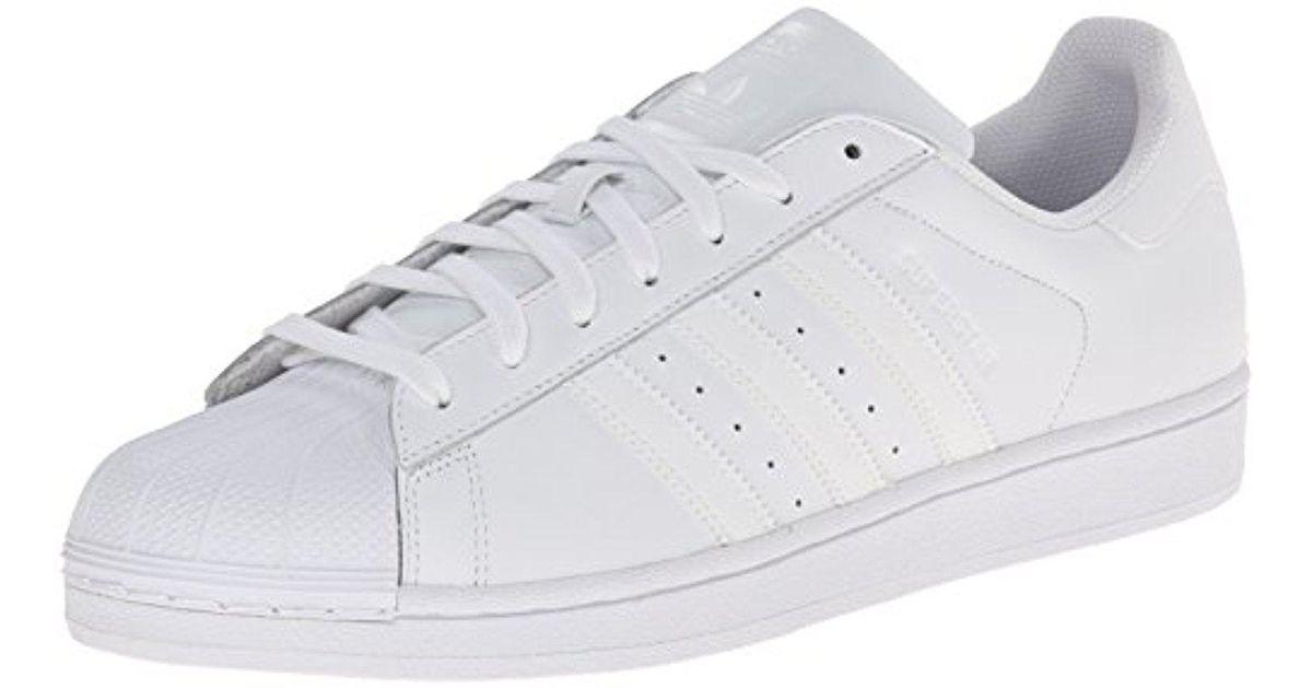 lyst adidas originali superstar fondazione occasionale scarpa, bianco