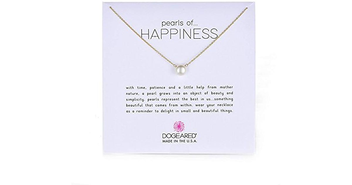 Lyst - Dogeared Jewels & Gifts Pearls Of Happiness Freshwater Pearl (8mm) Necklace in Metallic - Save 10%