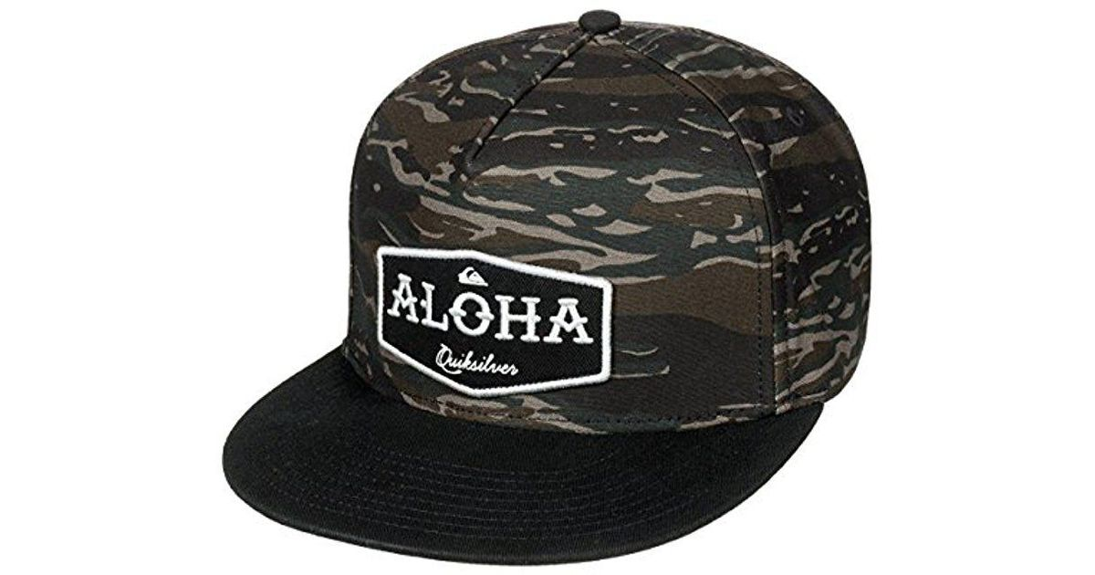 official photos 11b55 d9d76 ... clearance lyst quiksilver state of aloha trucker hat in black for men  b2609 9a754