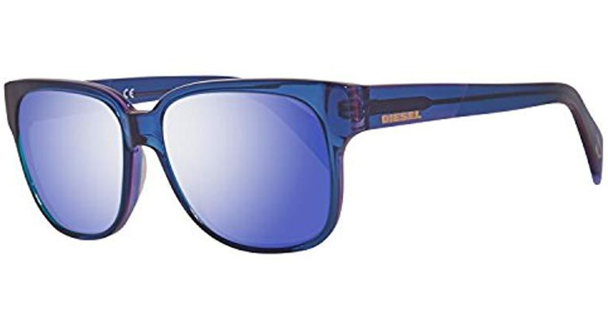 bf32e26515 Lunettes de soleil 0074 Pour Femme Shiny Black / Gradient Smoke DIESEL pour  homme en coloris Bleu - Lyst