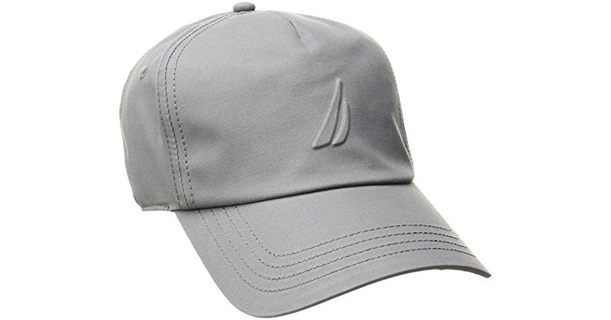 1a09b440cd12bd Nautica Logo Adjustable Performance Baseball Cap in Gray for Men - Lyst