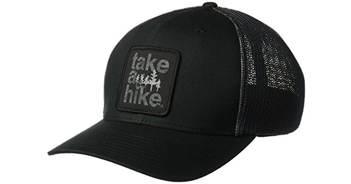 49e30d83379d2 Columbia Trail Ethos Mesh Hat in Black for Men - Lyst