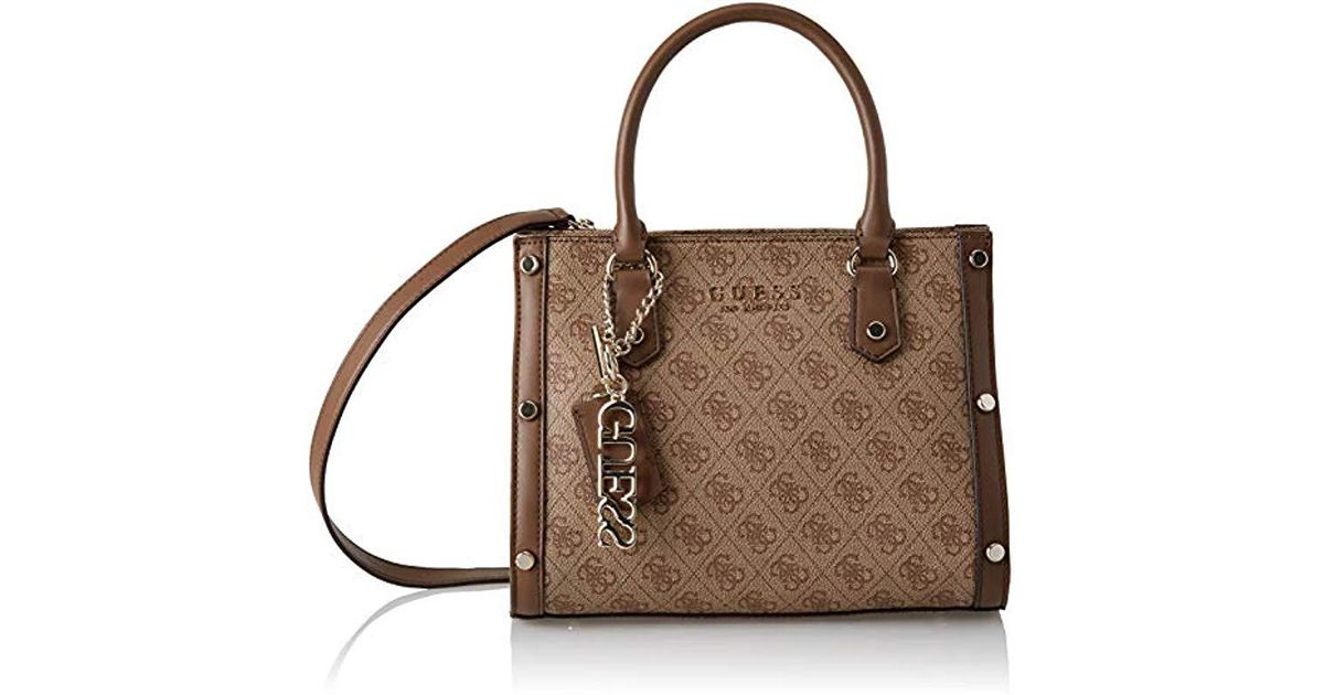 6e0184037f Guess Florence Shoulder Bag in Brown - Lyst