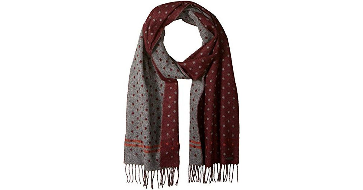 42744cf12c11 Lyst - Ted Baker Redpine Spot Scarf in Red for Men