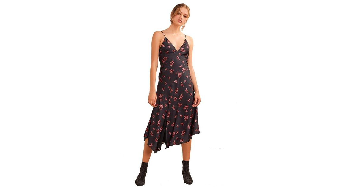 25d5f00e06d Lyst - Keepsake Keepsake Infinity Midi Dress In Black With Pomegranate  Disty in Black