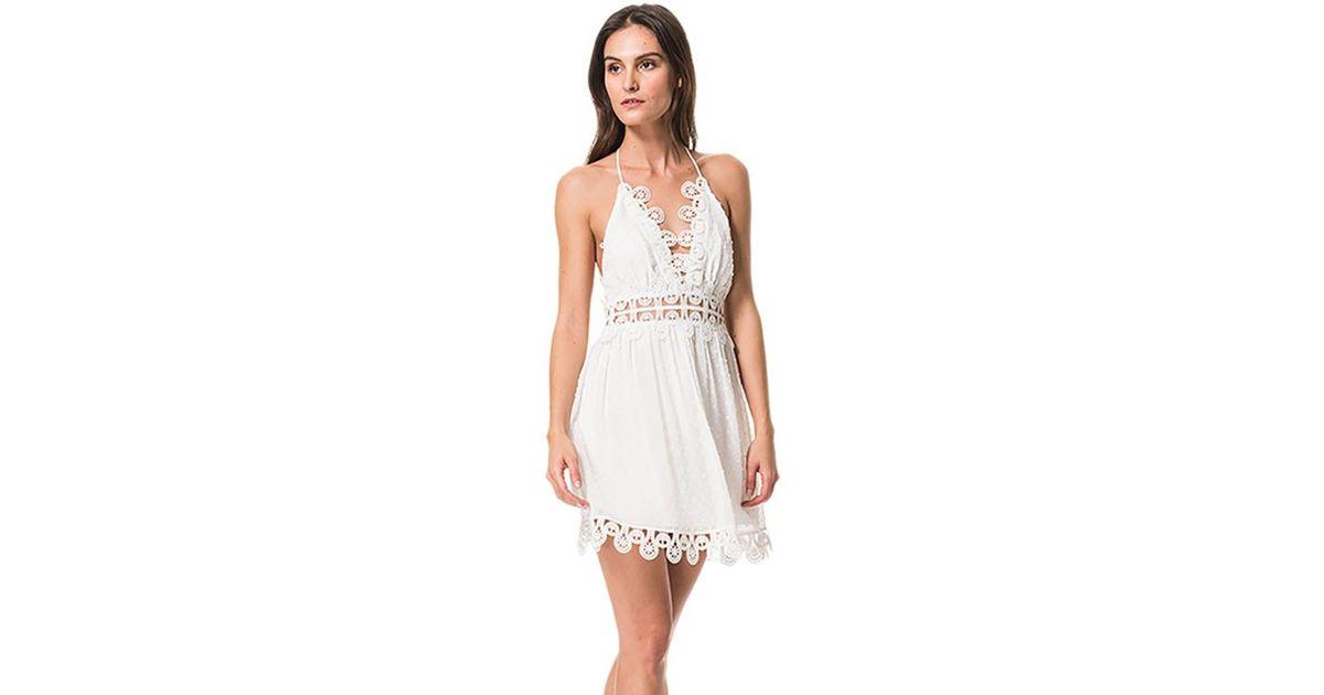 437125170f2 Karina Grimaldi Mimi Swiss Dot Mini Dress In White in White - Lyst