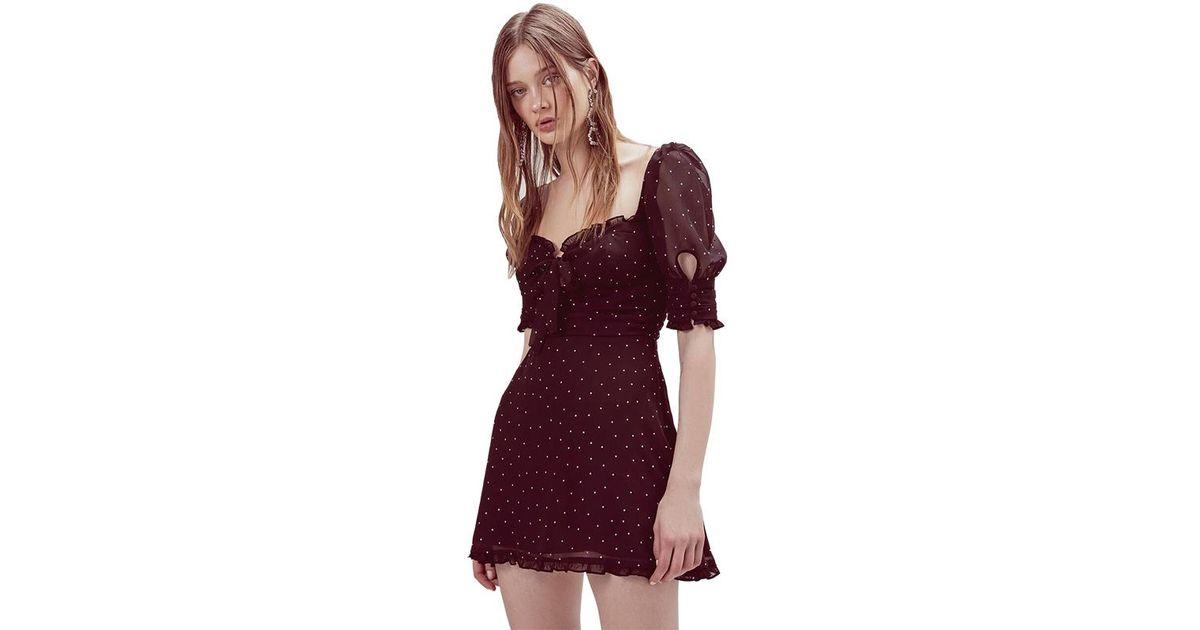 4f47f44ea3d Lyst - For Love   Lemons Lucky Dice Mini Dress In Twilight in Black