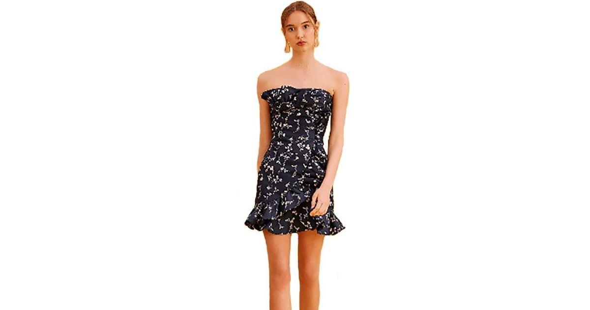 3ff43062c4e5 Keepsake Keepsake Daybreak Mini Dress In Navy Floral in Blue - Lyst