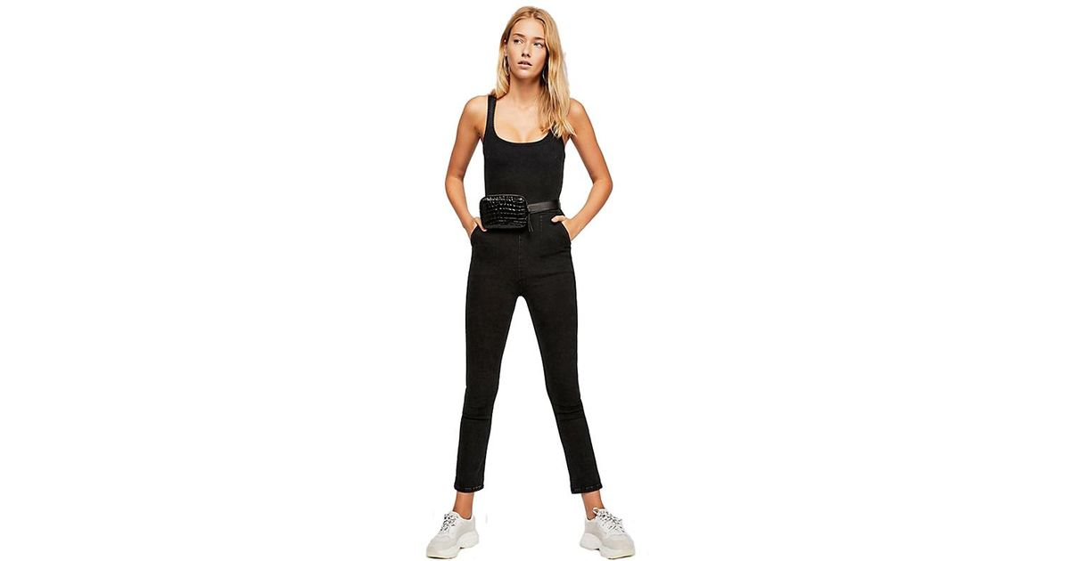 7b23b605457 Free People Scarlett Jumpsuit In Black in Black - Lyst