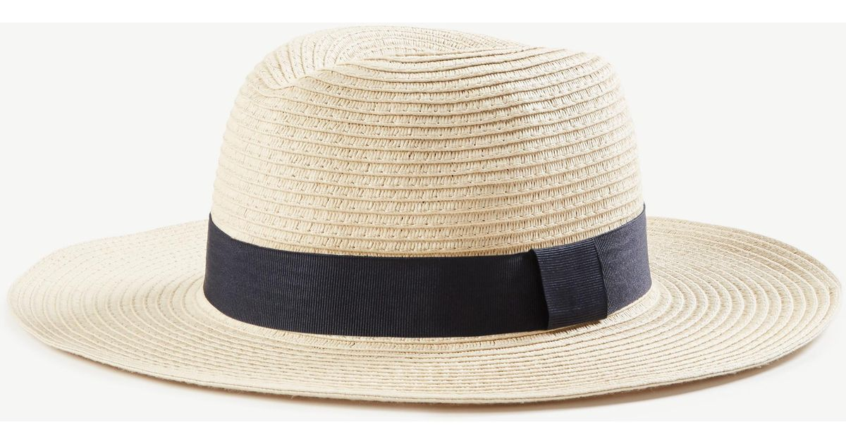 cc25ace46d9df Ann Taylor Summer Straw Hat in Natural - Lyst