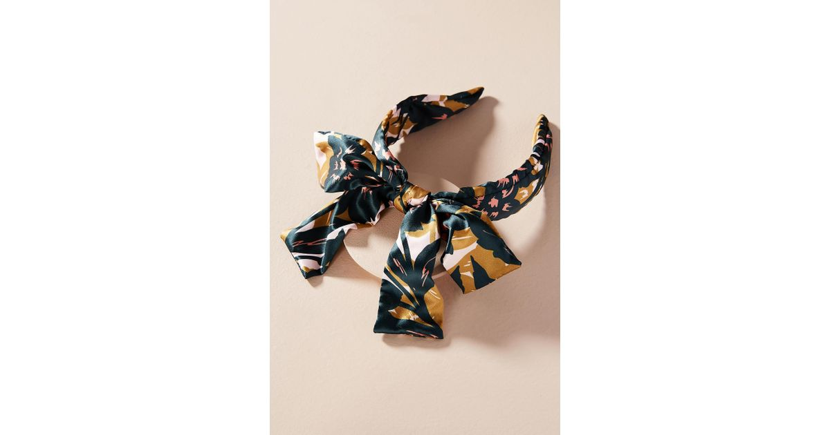 Anthropologie Bow-Tied Tropical Headband 27La4