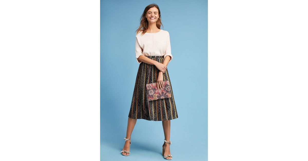 8ccc8f6ad Anthropologie Kendall Striped Skirt - Lyst