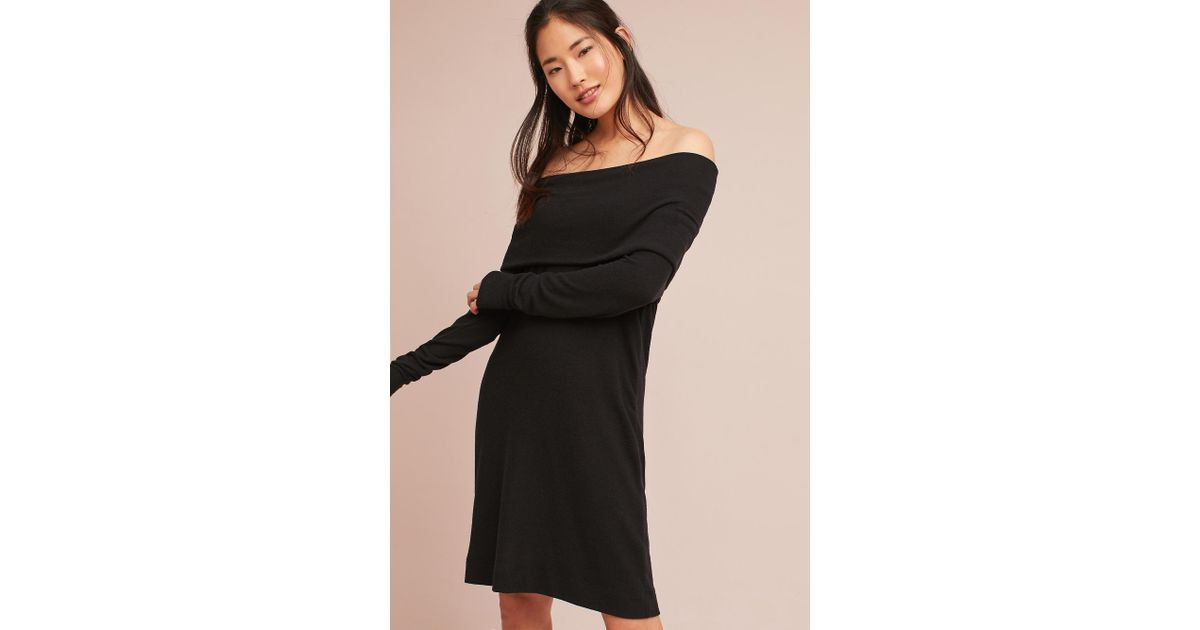 Anthropologie Michael Stars Off-the-shoulder Tunic Dress in Black - Lyst