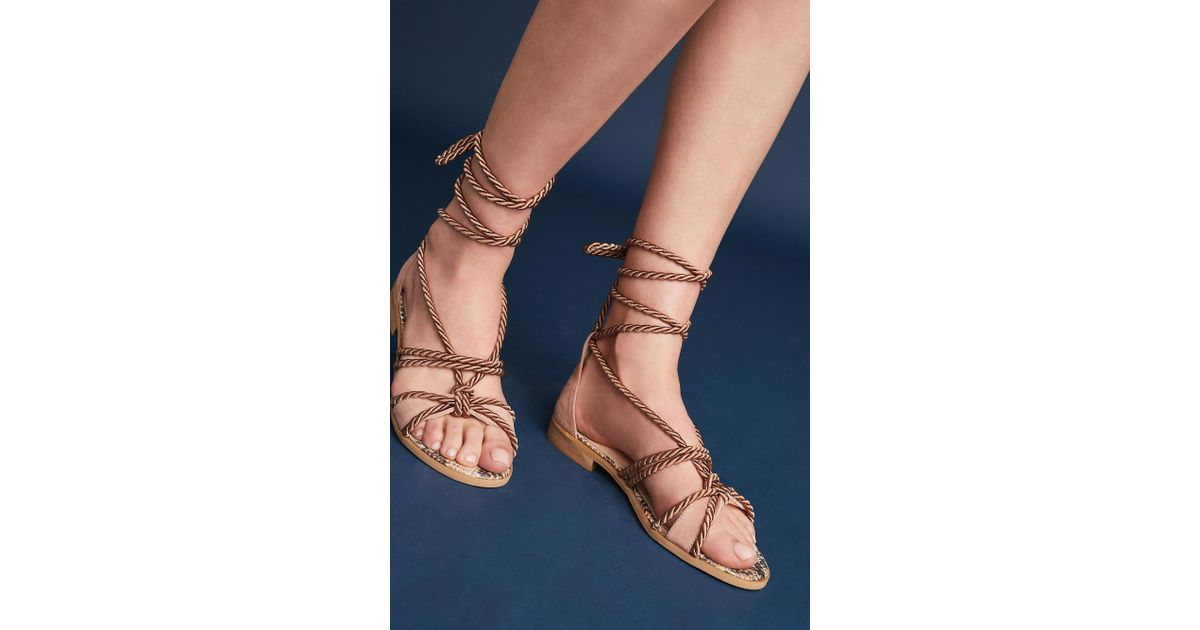 29cecafccc7 Anthropologie Elysess Rope Gladiator Sandals in Pink - Lyst