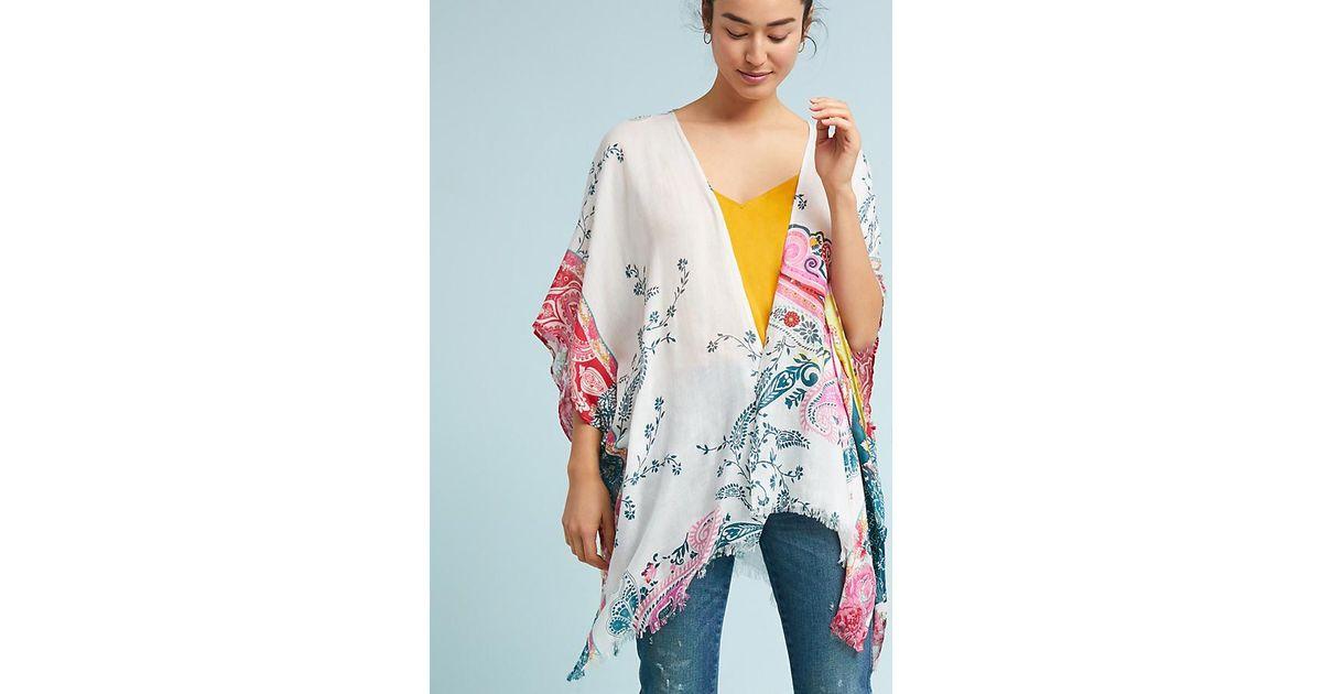 7fc0e2f4642 Anthropologie Clarabelle Floral Kimono - Lyst