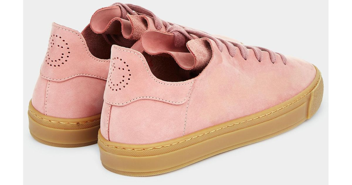 Anya Hindmarch Perforated Smiley Sneakers in Pink - Lyst 570d2b6efe0