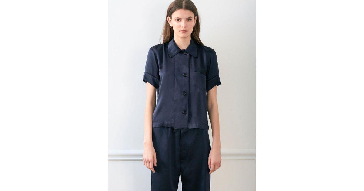 Lyst - Araks Shelby Pajama Top Sea Silk in Blue 9851f81da