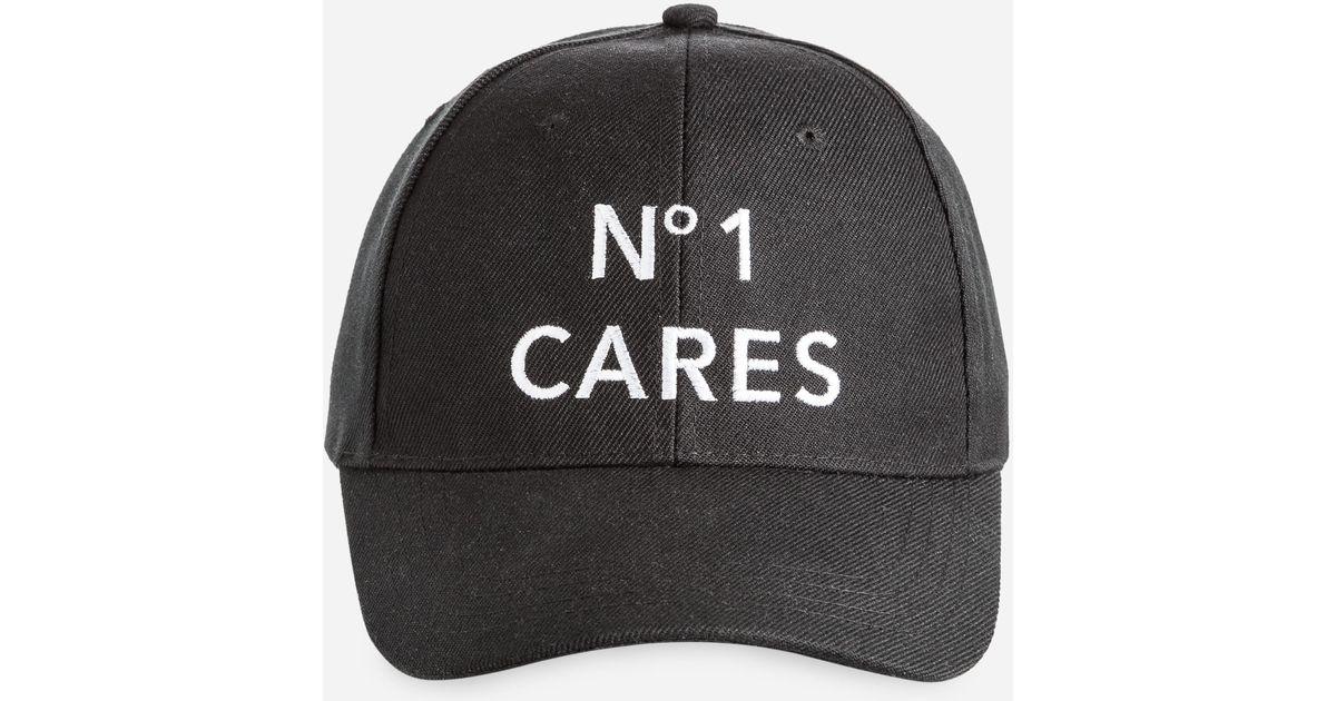 0296c38759c94 Lyst - Ashley Stewart No One Cares Baseball Cap in Black