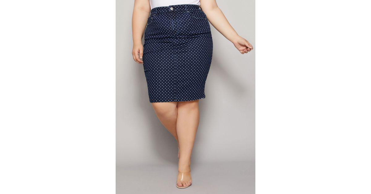 3fcc4de003 Lyst - Ashley Stewart Plus Size The Lottie Skirt in Blue