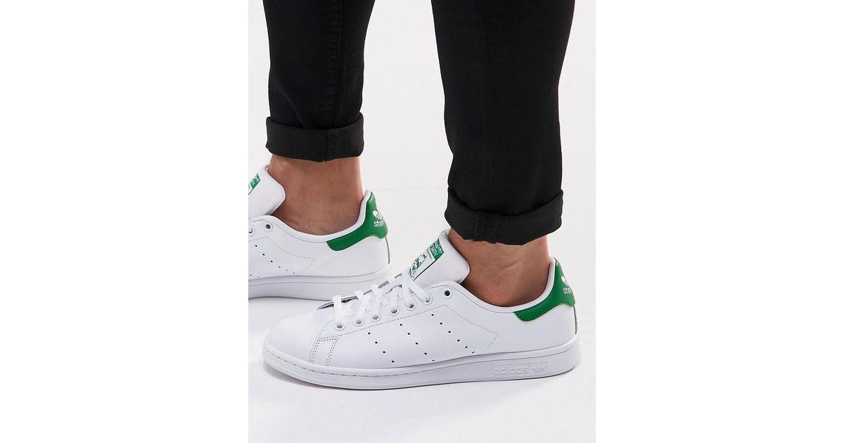 Adidas Originals Stan Smith zapatilla de cuero en blanco m20324 en