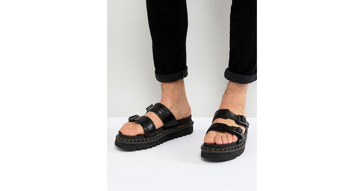 4ab1ad61941809 Dr. Martens Black Myles Sandals in Black for Men - Save 31% - Lyst