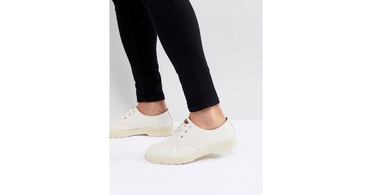 Dr Martens Delray Surteint Chaussures 3 Oeil Dans La Pierre - Beige XOuVU