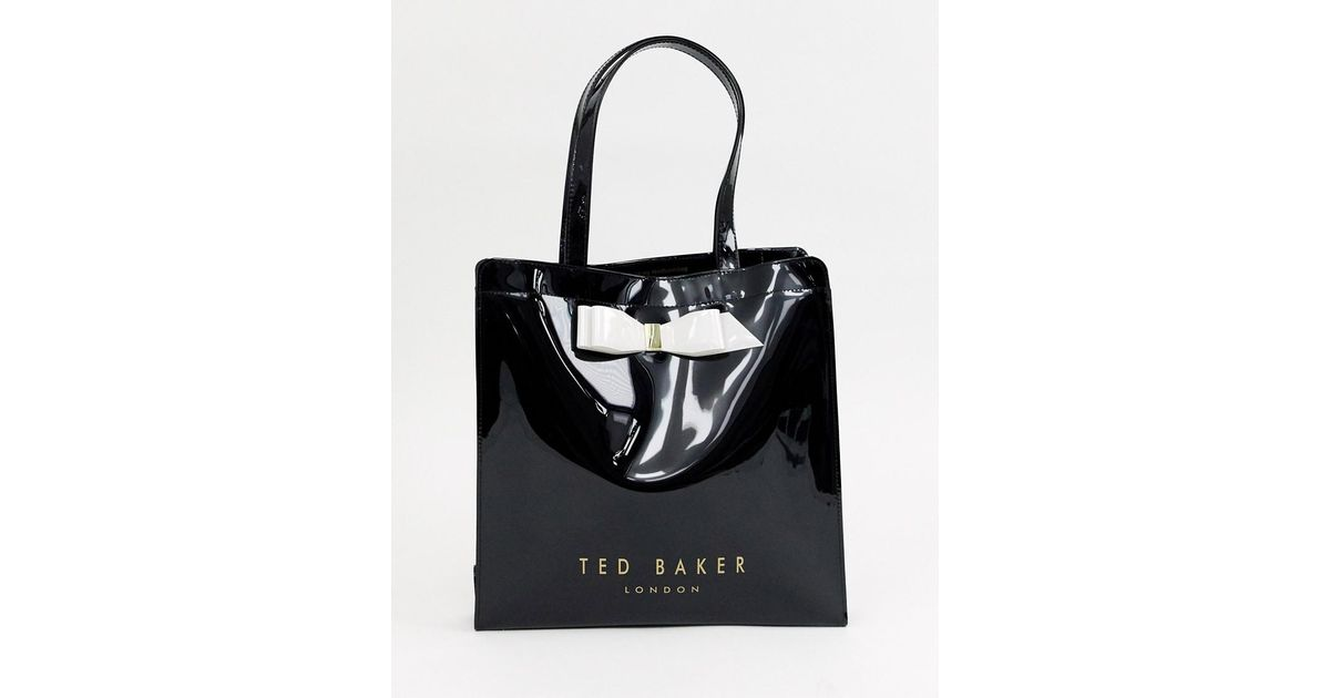 8334398153e4 Ted Baker Almacon Bow Large Icon Bag in Black - Lyst