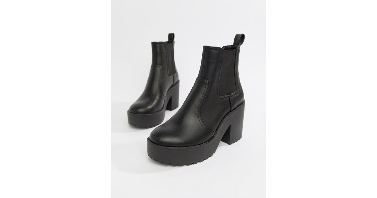 23151f57d83a Lyst - ASOS Element Chunky Chelsea Boots in Black
