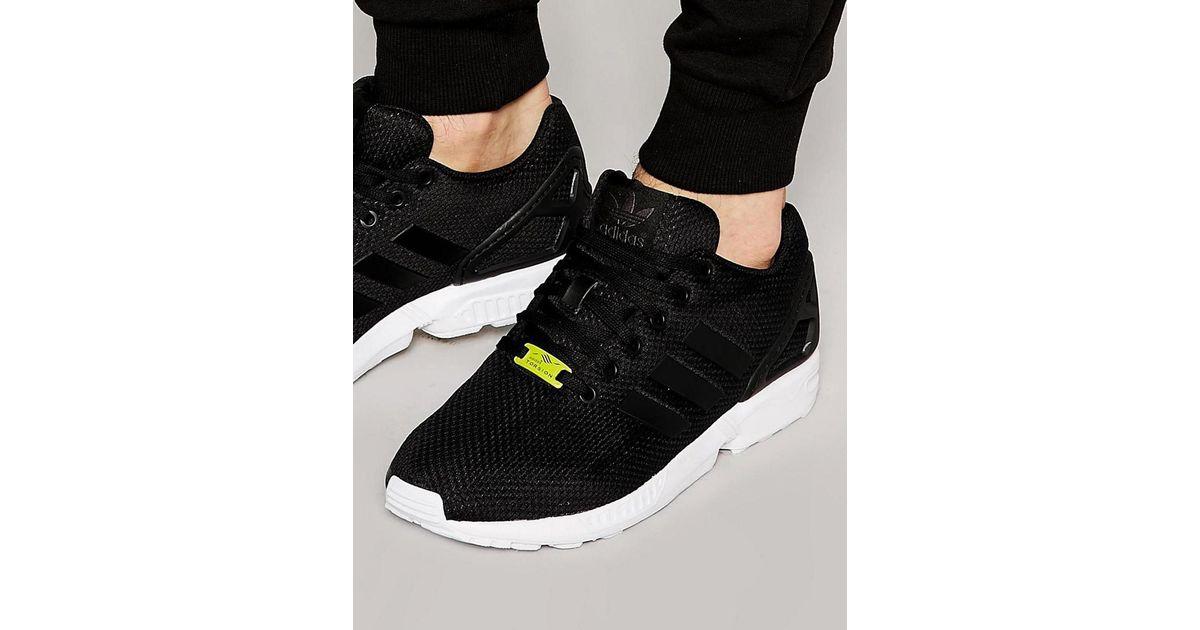 buy online 56af9 7af42 release date lyst adidas originals zx flux trainers in black m19840 in black  for men 6a487