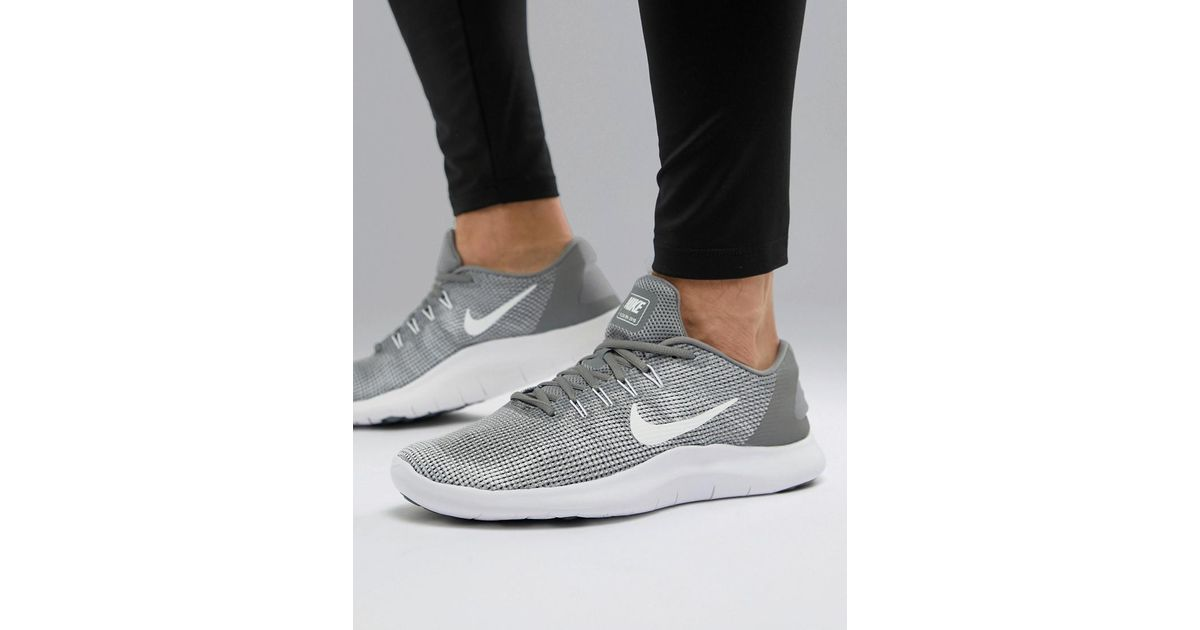 34bd5c0cf891 Nike Flex 2018 Trainers In Grey Aa7397-010 in Gray for Men - Lyst
