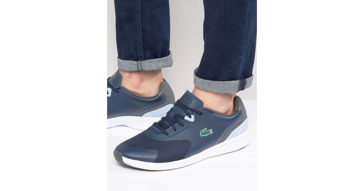 newest collection 15f39 dbfb4 Lacoste Light Runner Trainers in Blue for Men - Lyst