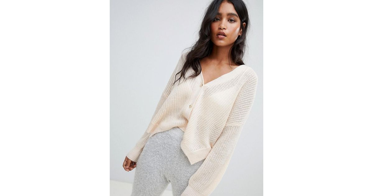 db394df34f Micha Lounge Oversized Cardigan With Side Splits in Pink - Lyst