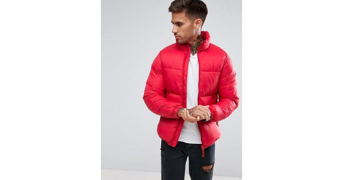For Black In amp;bear Pull Red Men Jacket Lyst Puffer UY0nqn6