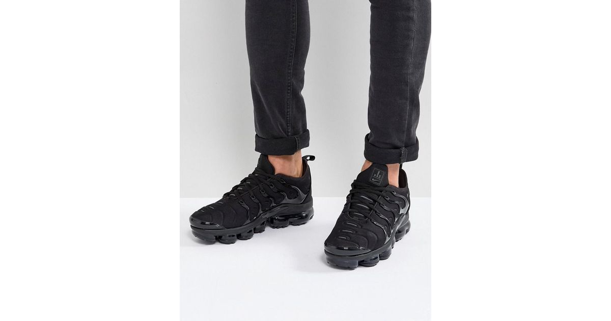 outlet store 219e7 761ee Nike Air Vapormax Plus Sneakers In Black 924453-003 in Black for Men - Lyst