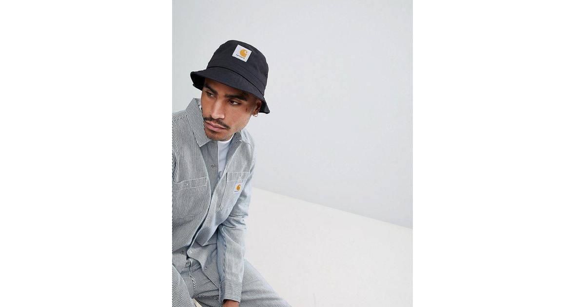 833b53ea Carhartt WIP Watch Bucket Hat In Black in Black for Men - Lyst