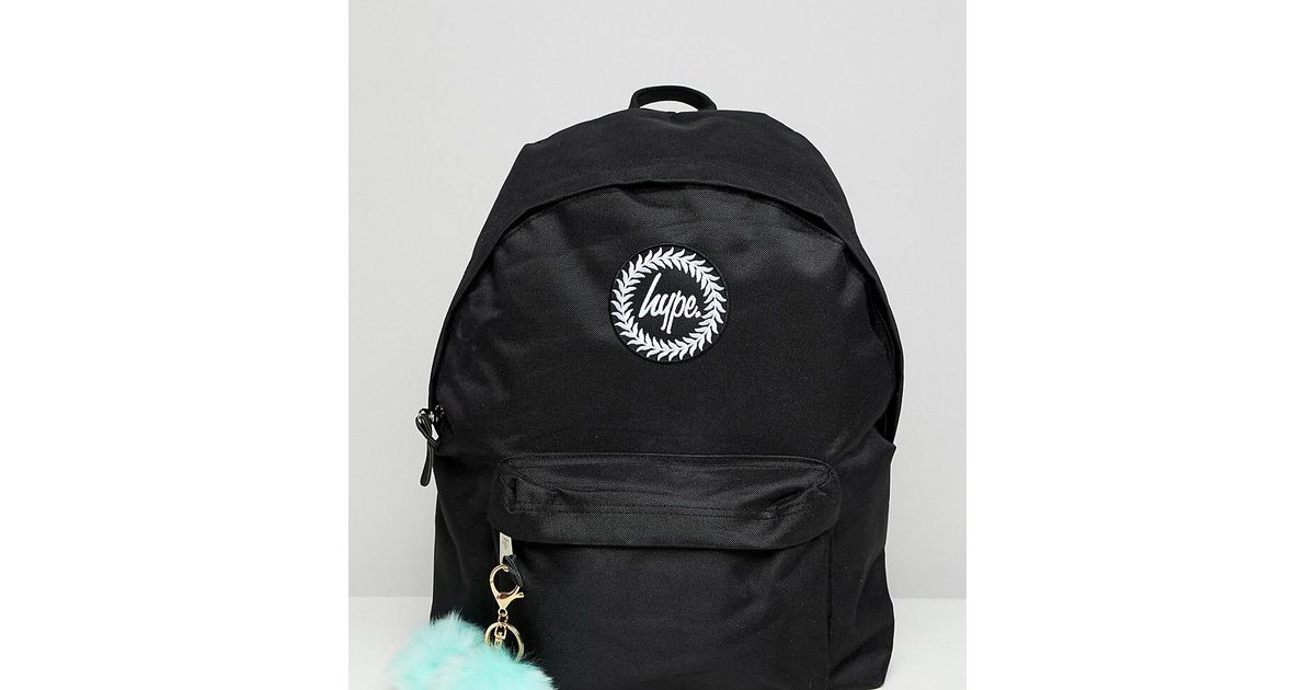 46847c4ebda6 Lyst - Hype Exclusive Backpack In Black With Teal Pom in Black