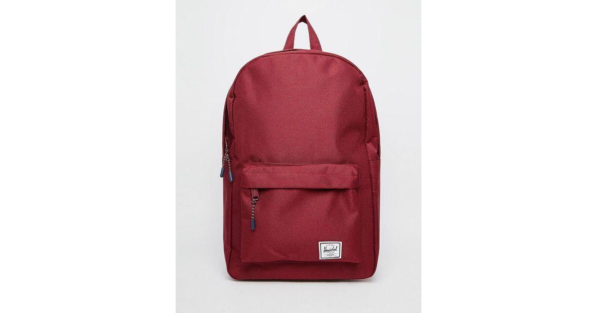 e575f2f87fa Lyst - Herschel Supply Co. Classic Backpack In Burgundy in Red