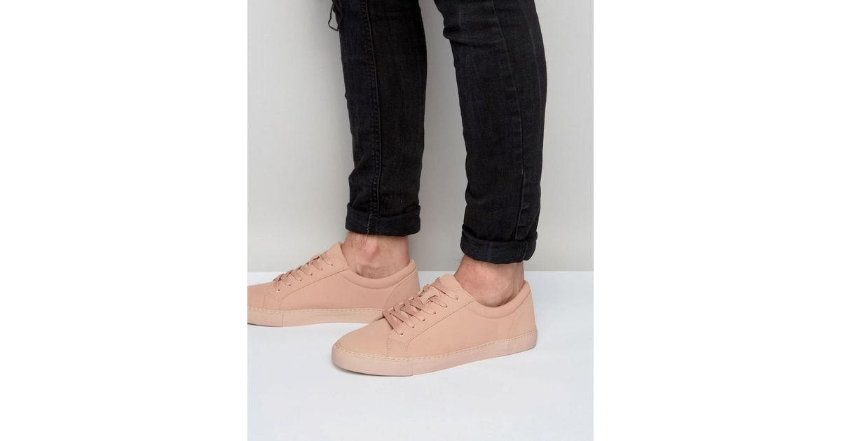 728506aef Asos Lace Up Trainers In Pink in Pink for Men - Lyst