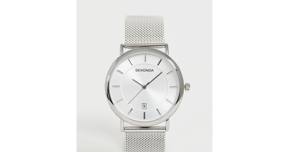 3f0df92de273 Reloj de malla plateado exclusivo en ASOS de Sekonda de hombre de color  Metálico - Lyst