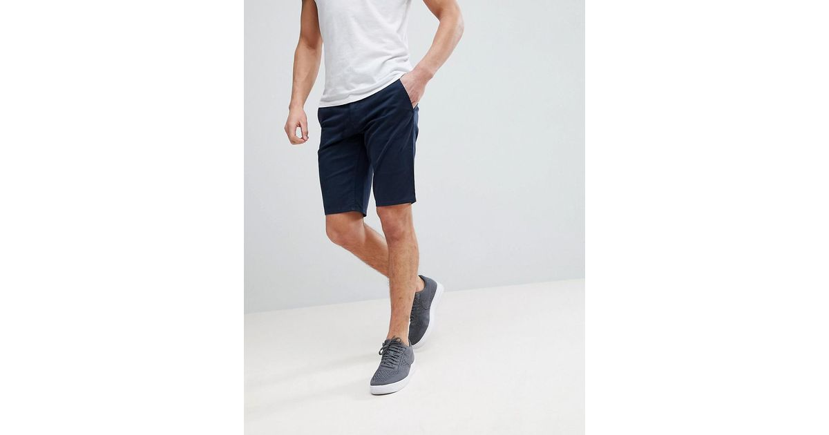 712ff5eb3 BOSS Boss Slim Fit Chino Shorts In Navy in Blue for Men - Lyst