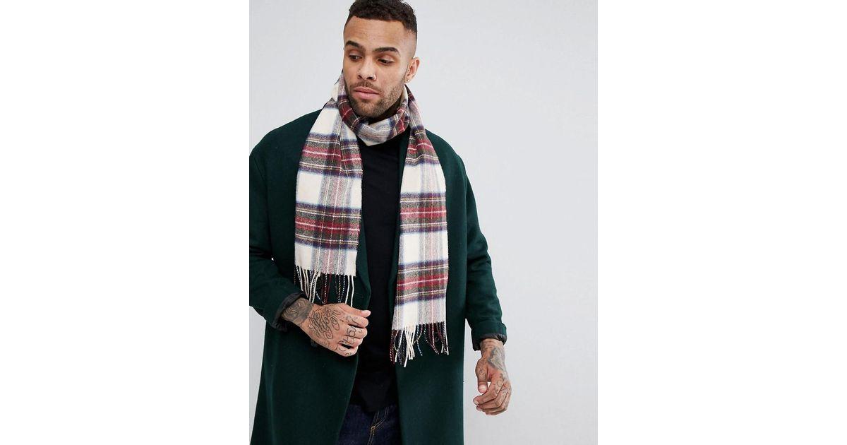 Lyst - Charpe en laine carreaux cossais Glen Lossie pour homme en coloris  Neutre 17d4c5516c2