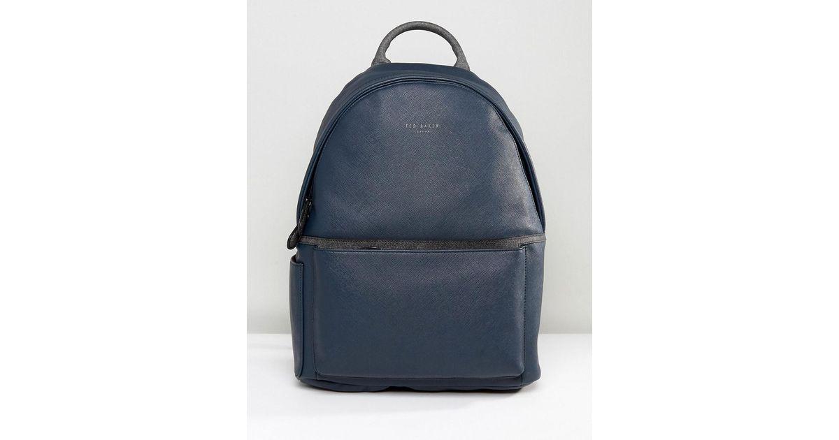 23a7aa5701c5 Ted Baker Fangs Backpack In Crossgrain in Blue for Men - Lyst