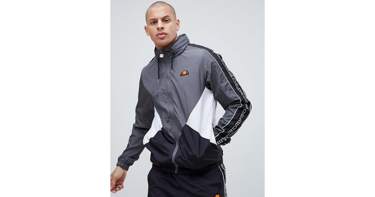 Lyst - Ellesse Lapaccio Track Jacket With Logo Stripe Sleeve In Grey in  Gray for Men cefc22190fc